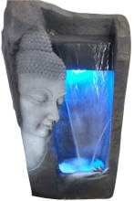 Buddha face indoor fountain with LED light