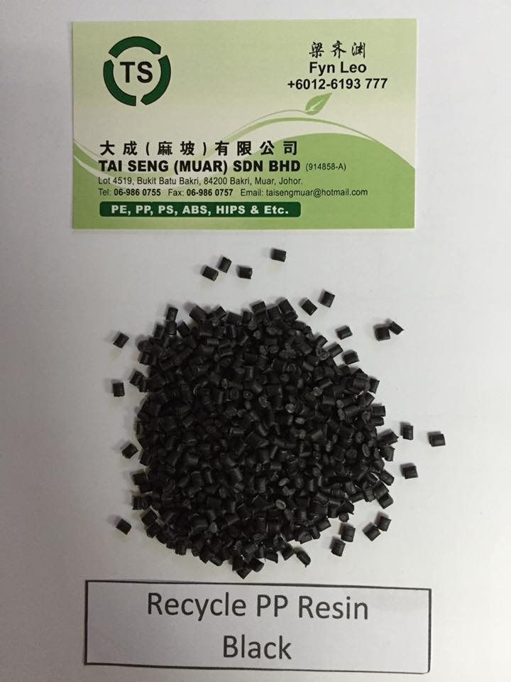 PP Resin, PP Recycle Black, Plastic Resin