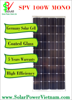 The cheapest price solar panel 100W monocrystalline - Made in Vietnam