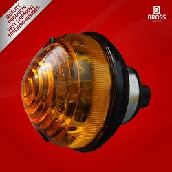 Front Indicator Light Lamp Unit Signal Lamp:AMR6513-LD for Land Rover Defender 90 110 130 TD5 1990-On