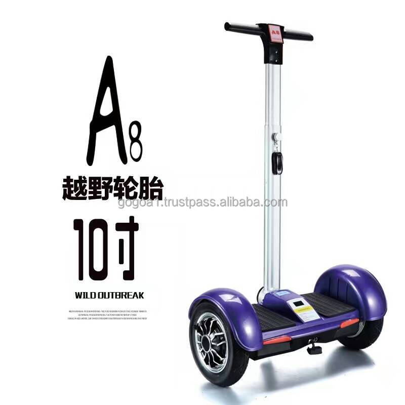 10 inch big tire mini smart self balance scooter WITH HANDLE WITH REMOTE smart self balancing electric drift board scooter