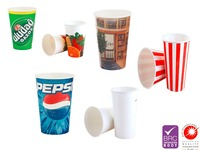 Custom Printed Paper Cups For Cold Drinks 7oz/7,5oz/8oz/9oz/12oz/14oz/16oz