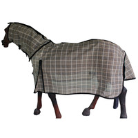 Horse Fly Combo Rug in High Quality PVC Mesh Beige black white chk