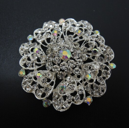 2016 new coming Beauty colorful peacock rhinestone brooch