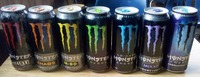 Monster Energy Drink 500ml (green, yellow, blue)