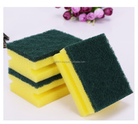 20D factory direct wholesale kitchen usage sponge with scouring pad for washing dishes alfa bema made in Egypt
