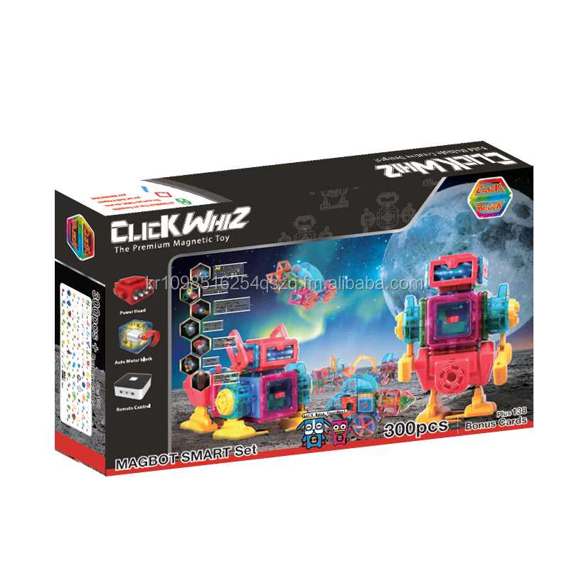 Magnet Toy(New / Magformers / Educational / Construction / Block / Brick / Child)_CLICKBLOCK_MAGBOT SMART 300PCS