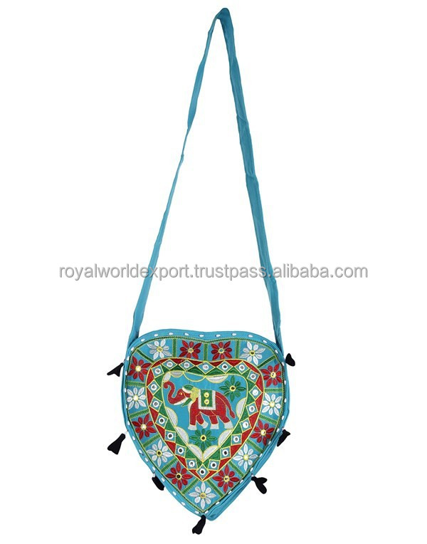 Indian Designer heart shape embroider Hathi Boho Bag /Beach Bag-2015 Latest Handmade Beautiful stylish banjara vintage handbags