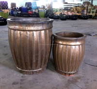 Metallic copper glaze pot - Rustic copper planter - Outdoor garden glazed pot - VN pottery Manufacturer - Supplier, Exporter