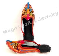 Indian Embroidery Work traditional slipper-Pakistani style khussa Shoes-l Wholesale handmade embroidered juti shoes khussa