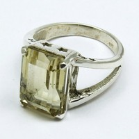 Citrine !! Tropical Light 925 Sterling Silver Ring, Sterling Silver Jewellery, Gemstone Silver Jewellery
