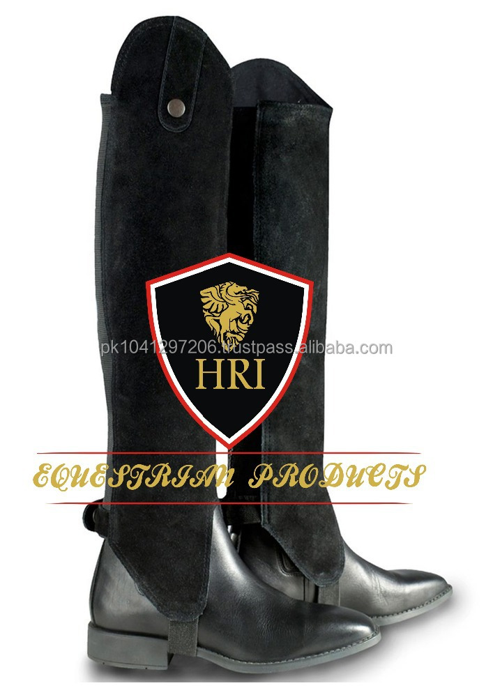 Black Suede Leather Half chaps / Horse Riding Half Chaps / Horse Riding Colorful Half chaps/Gaiters