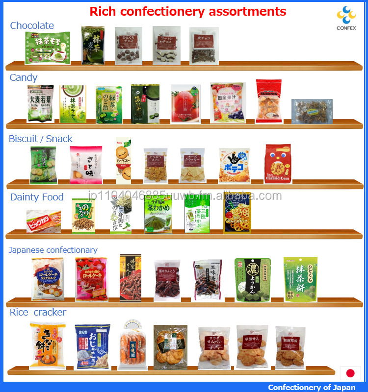 Traditional and Various types of supplier snack confectionery for light snacks