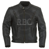 Rinds leder MOTORBIKE LEATHER JACKET BIKE RACING JACKET CE - ALL SIZES