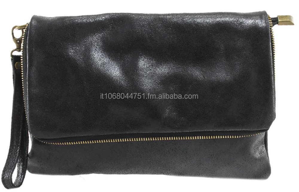 Made in Italy bag stylish pochette clutch woman genuine fashion leather work 1121