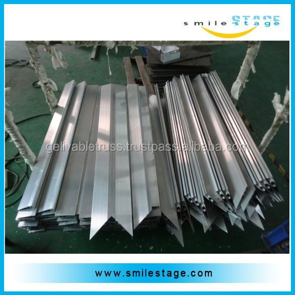 Aluminum edge for dance floor