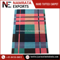 100% Pure and Natural Hand Tufted Cut Pile Wool Carpet