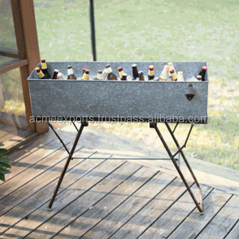 Galvanized Drink Tub With Stand | Galvanized Party Tub With Stand
