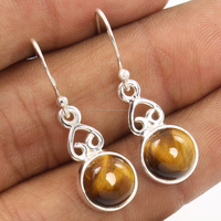 Women New Style Beautiful Tiger's Eye silver earring