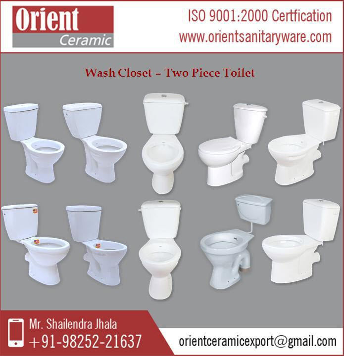 Right Height Combined Ceramic Two Piece Toilet Designer Commode
