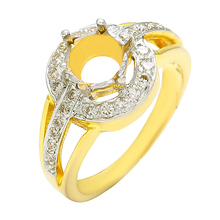 New Design Semi mount 14k Yellow Gold Diamond Gold Ring For Females