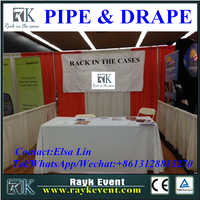 Promotional elegant exhibition booth used pipe and drape for sale custom trade show boot from China