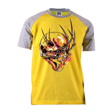 100% Cotton Short Sleeves Raglan design Printed T-Shirt