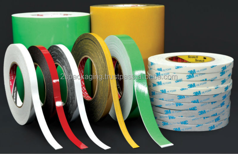 High Adhesion and Cohesion Strength Double Sided PE Foam Tape with Pressure Sensitive Acrylic Adhesive