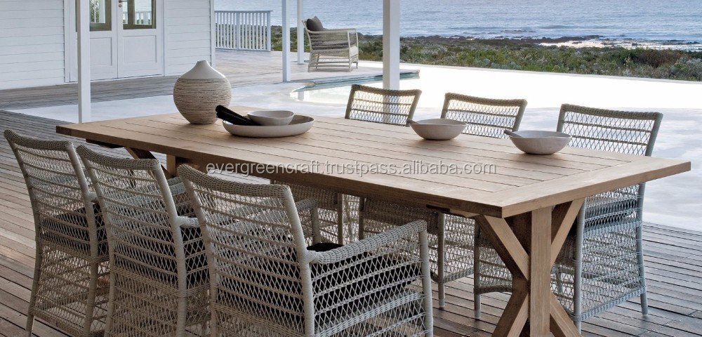 Luxury Dining Chair with Teak Wooden table