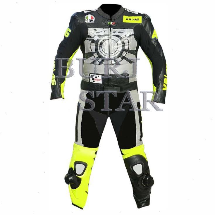 Top Quality Motorbike Leather Suit , Full Safety Motorcycle Racing Suit - Genuine Cowhide Leather
