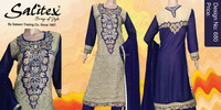 0680- Salitex Chiffon 3 piece suit net frock design ladies salwar suit design