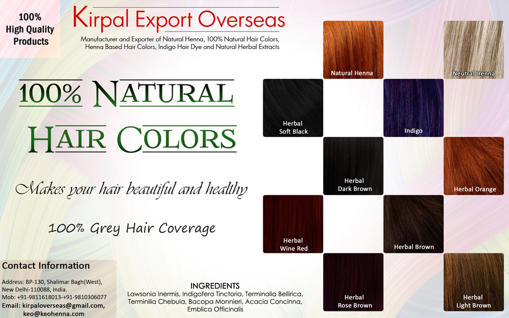 Non Allergic Hair Dye, Organic Hair Dye, Temporary Hair Dye