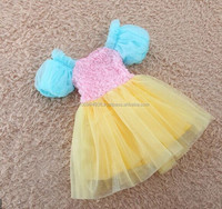 girl's dresses, baby's rainbow dresses, chilren's tutu dresses, MD-220
