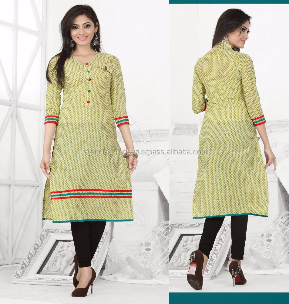 Stand Collar Designs For Kurti : List manufacturers of designs kurtis with laces buy