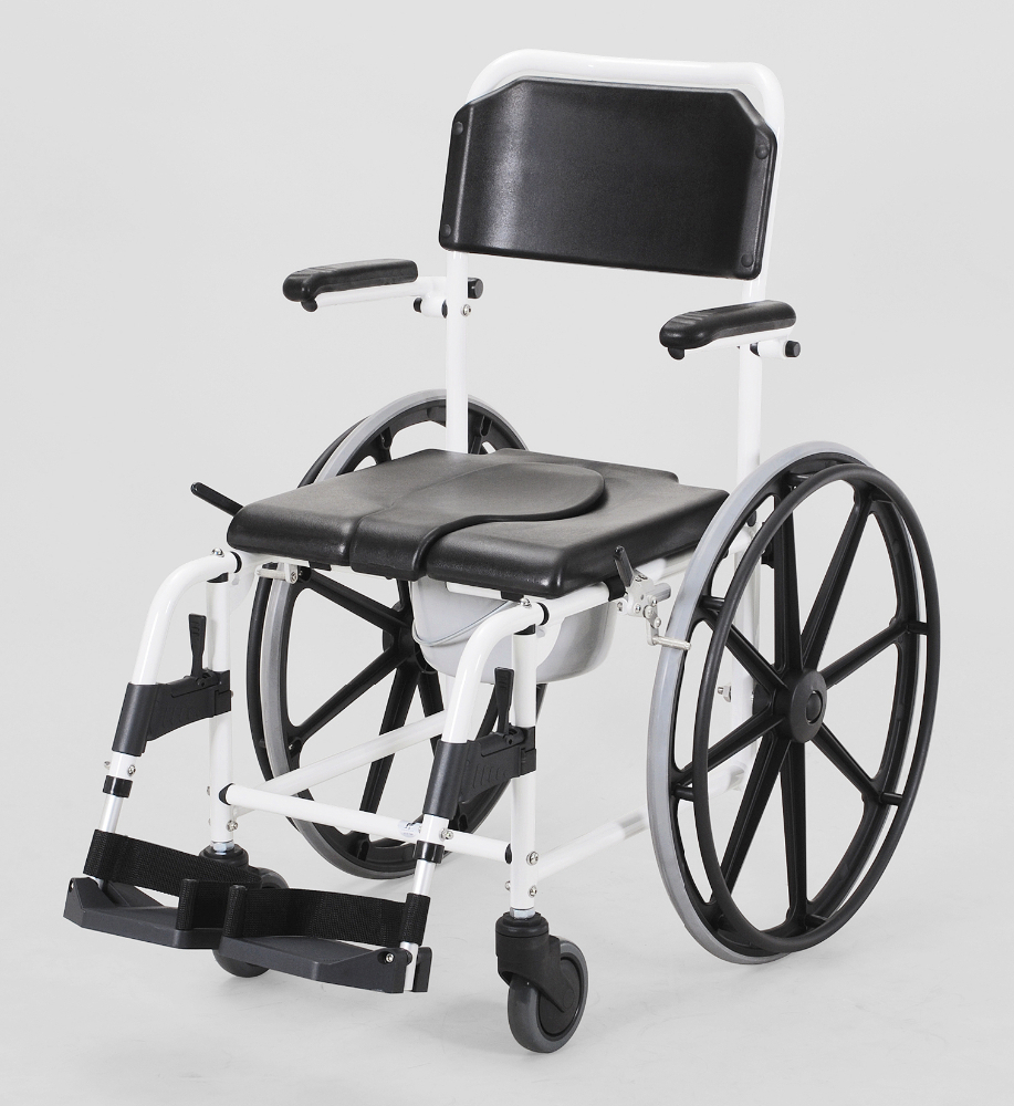Commode Wheelchair Folding Bathroom Wheelchair