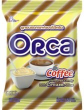 Orca Coffee Flavoured Hard Candy with Cream Filling in Pillow Pack