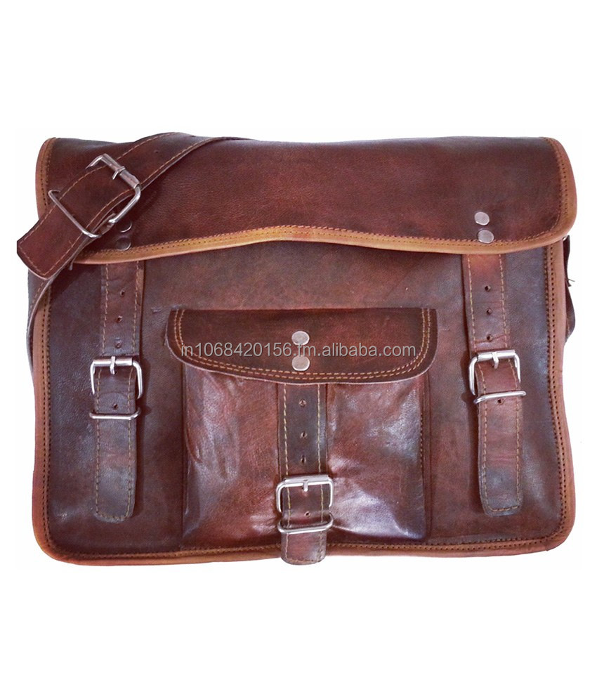 Real leather shoulder bag office use college new fashion men leather bag