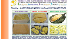 SOURSOP PUREE DURIAN FRESH ORGANIC FROZEN BANANA PUREE CONCENTRATE - TIDA KIM - DRAGON PUREE CONCENTRATE -ORGANIC JUICE POWDER