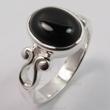 Hot Fashion Jewellery 925 Solid Sterling Sliver Elegant Genuine BLACK ONYX Gemstone All Sizes Ring ! Wholesale Price