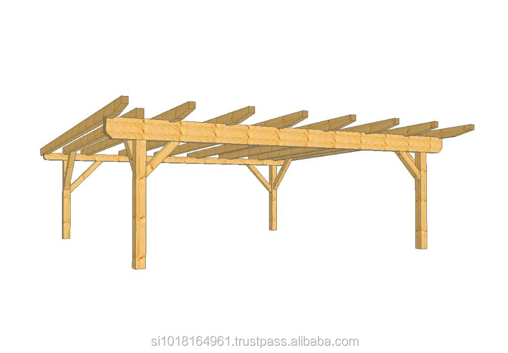 zwei autos holz carport fichte oder brettschichtholz. Black Bedroom Furniture Sets. Home Design Ideas