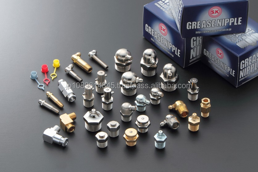 Japanese high quality car part grease nipples from SK brand manufacturers