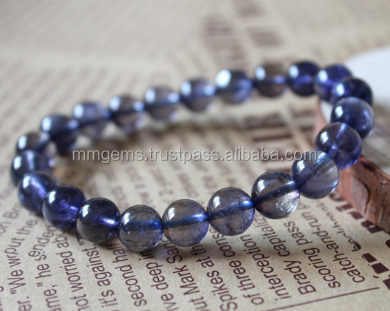 iolite stone bead bracelet glass beads seed beads 3d lace fabric beads bridal sem
