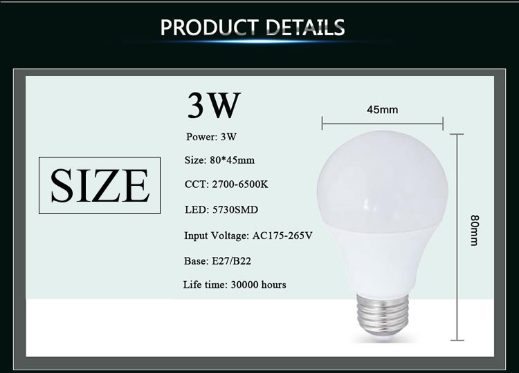 Wholesale 3W LED bulb E27/ B22 LED lamp LED Lighting Plastic+ ...