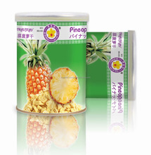 Thailand dried fruit best selling Vacuum freeze dried Pineapple 40 g tin - Thai Ao Chi Brand - Dry fruit Snack