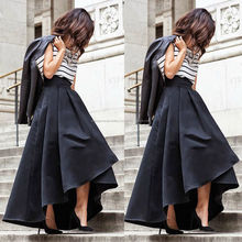 Women Stretch High Waist Flared Pleated Skirt Maxi Long Dress