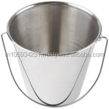 Chrome finish - Stainless steel Water serving Bucket for house hold use
