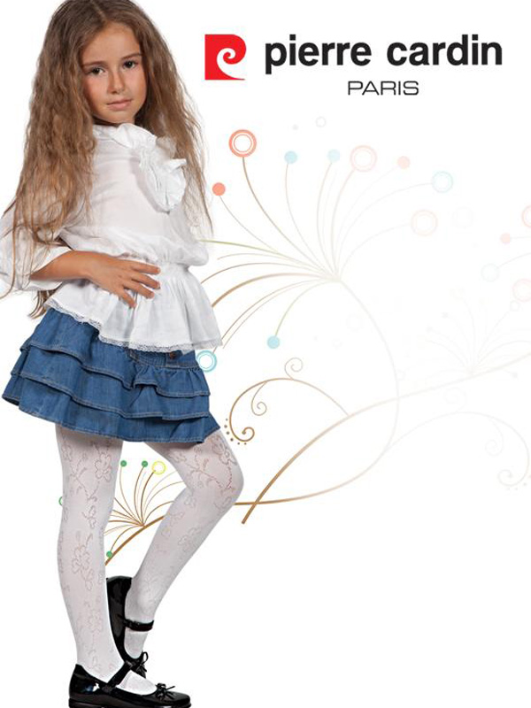 Pierre Cardin Marshmallow OEM Wholesale Kids Girl Microfiber 40 Denier Tights Patterned Pantyhose Multi Color