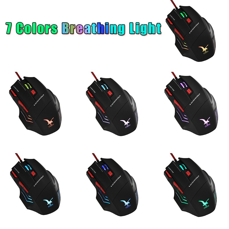 Hot Sale 2017 Adjustable DPI Game Mouse Optical X7 Wired Drivers USB 7D Gaming Mouse