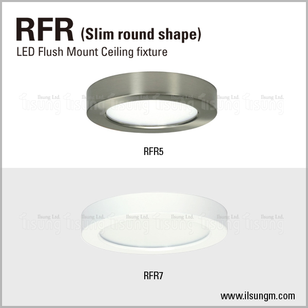 "6"" round disk light with decorative metal ring"