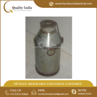 Metallic Indian Milk can Design Container